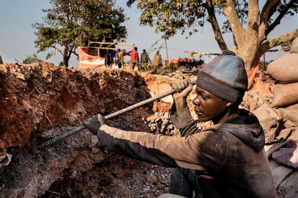 PHOTO: An undated photo shows a young miner digging for cobalt inside the CDM (Congo DongFang International Mining) Kasulo mine in Kolwezi, D.R.C. (Corbis via Getty Images, FILE)