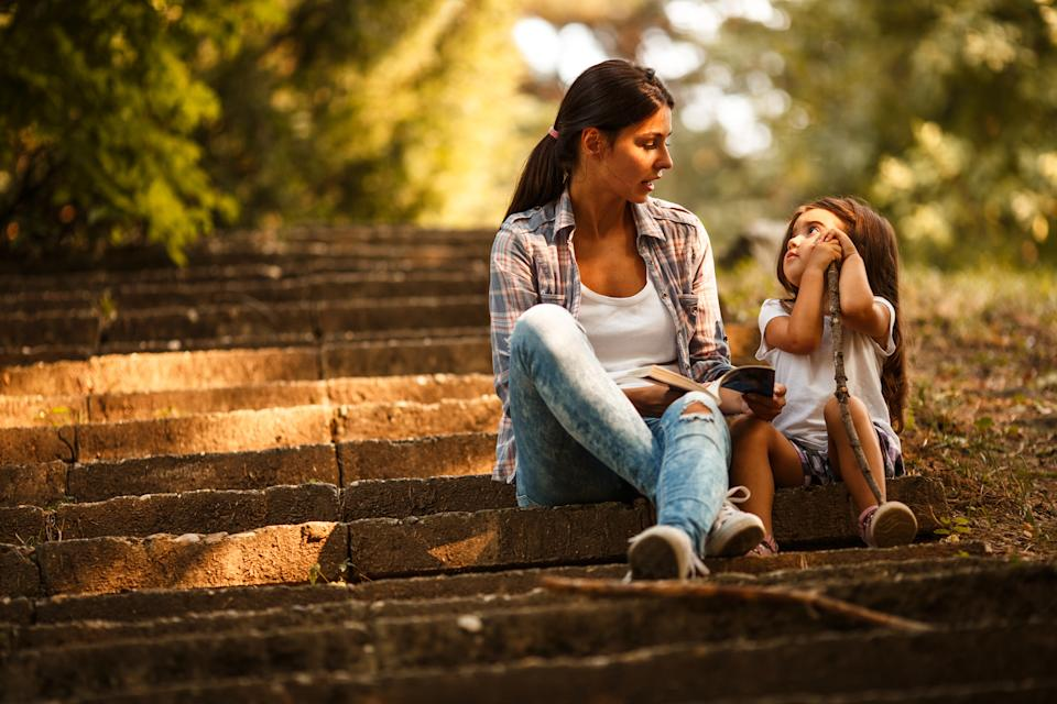 Parents plan on taking time to sit and listen to their children every day [Photo: Getty]