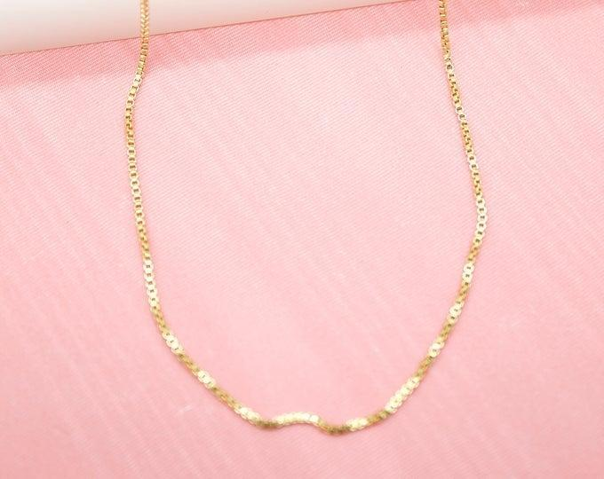 <p>Style this <span>Box Chain Necklace</span> ($9 and up) with a square next top.</p>