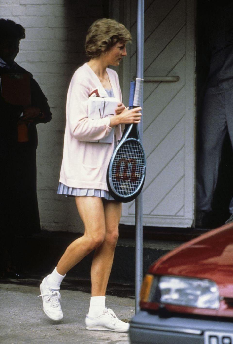 <p>Ever the style maven, Princess Diana made an argument for tennis skirts everywhere with this outfit.</p>