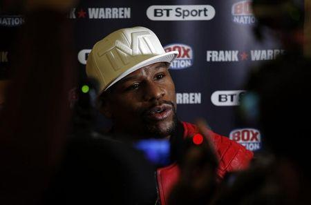 Floyd Mayweather Jr during the press conference Action Images via Reuters / Andrew Couldridge