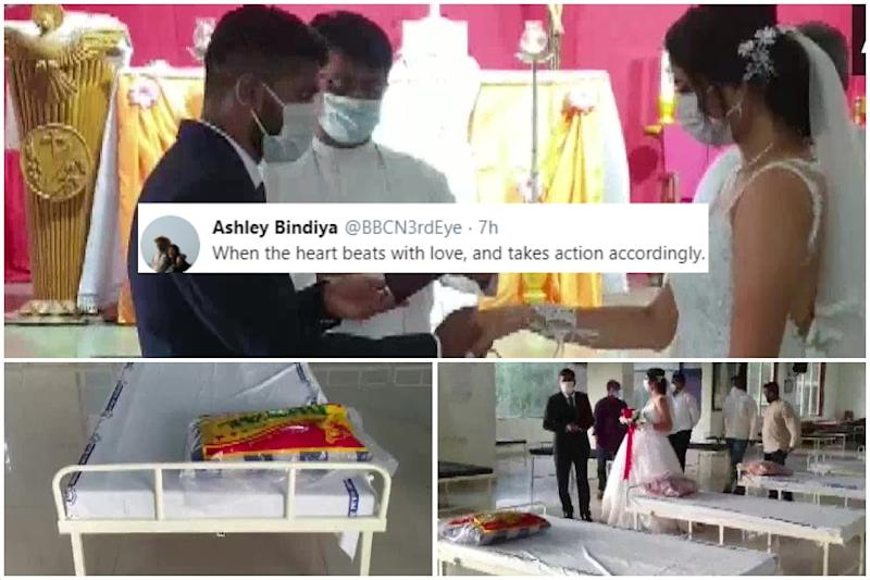 Twitter Sends Love to Couple Who Donated 50 Beds to Covid-19 Patients on Wedding Day