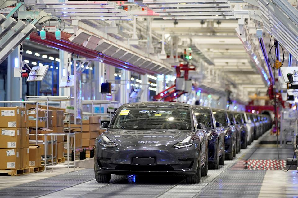 Tesla factory in Shanghai, China. Photo: Aly Song/Reuters