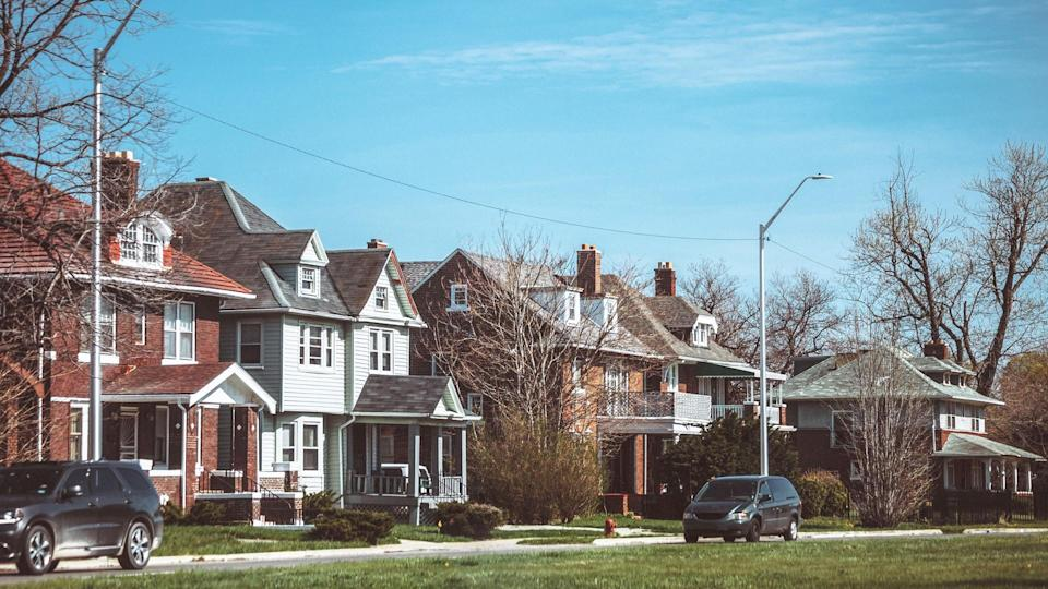 Detroit, Michigan, USA - streets of east side Detroit.