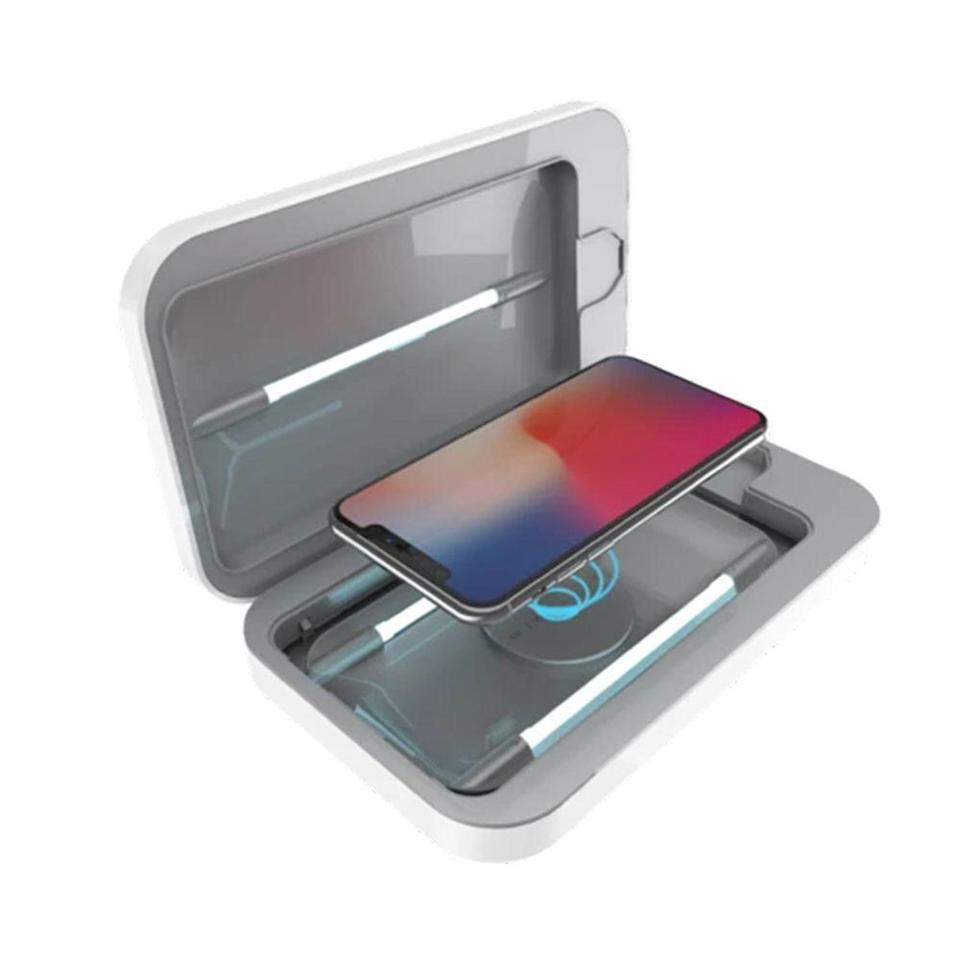 """<p><strong>Phonesoap</strong></p><p>phonesoap.com</p><p><strong>$99.95</strong></p><p><a href=""""https://go.redirectingat.com?id=74968X1596630&url=https%3A%2F%2Fwww.phonesoap.com%2Fproducts%2Fphonesoap-3-wireless-charger&sref=https%3A%2F%2Fwww.bestproducts.com%2Flifestyle%2Fg1804%2Fschool-supplies-list%2F"""" rel=""""nofollow noopener"""" target=""""_blank"""" data-ylk=""""slk:Shop Now"""" class=""""link rapid-noclick-resp"""">Shop Now</a></p><p>Sorry to break it to you, but your kid's smartphone — you know, the one you have to peel out of their fingers — is <a href=""""https://www.usatoday.com/story/tech/2019/02/26/your-smartphone-screen-probably-disgusting-heres-how-clean/2950106002/"""" rel=""""nofollow noopener"""" target=""""_blank"""" data-ylk=""""slk:steeped in germs (even poop)"""" class=""""link rapid-noclick-resp"""">steeped in germs (even poop)</a>. With Qi technology to charge Apple and Android devices, this little wireless box uses UV light to kill up to 99.99% of germs that linger on your kid's cell.</p><p>Small enough to fit in their backpack, locker, or desk, your child's phone can be germ-free all day long. </p>"""