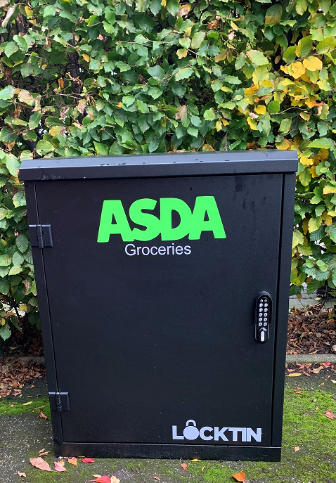 The delivery boxes would allow delivery of up to four or six totes of shopping - depending on household size. Photo: Asda