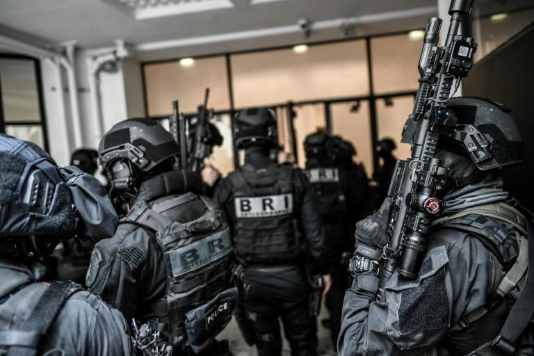 BRI members are specialised police commandoes tasked with handling crisis situations (AFP/STEPHANE DE SAKUTIN)