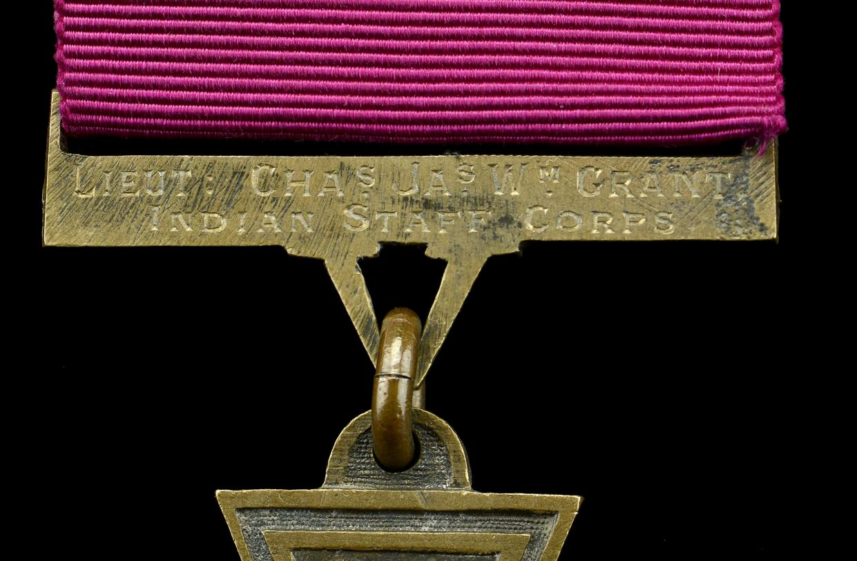 Lieutenant Charles Grant's Victoria Cross group of medals will be sold at auction later this month (Dix Noonan Webb /PA)