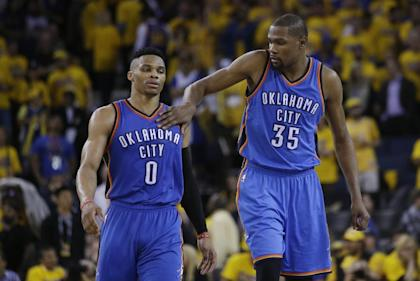Oklahoma City can't afford to lose two stars for nothing. (AP)
