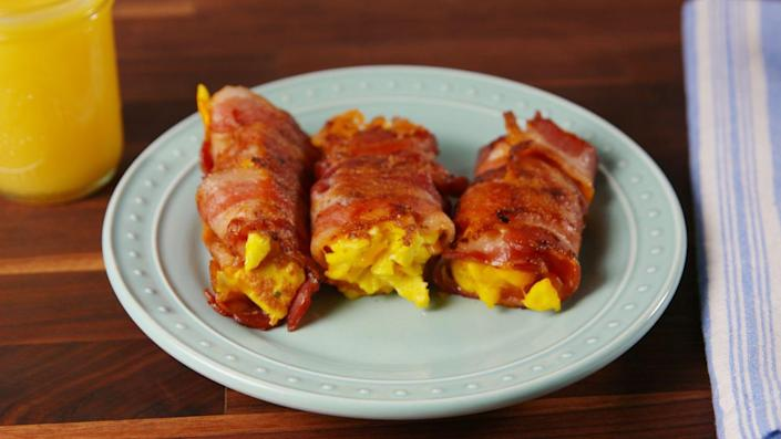 """<p>Breakfast, made even easier.</p><p>Get the recipe from <a href=""""https://www.delish.com/cooking/recipe-ideas/recipes/a52582/bacon-egg-and-cheese-roll-ups-recipe/"""" rel=""""nofollow noopener"""" target=""""_blank"""" data-ylk=""""slk:Delish"""" class=""""link rapid-noclick-resp"""">Delish</a>.</p>"""
