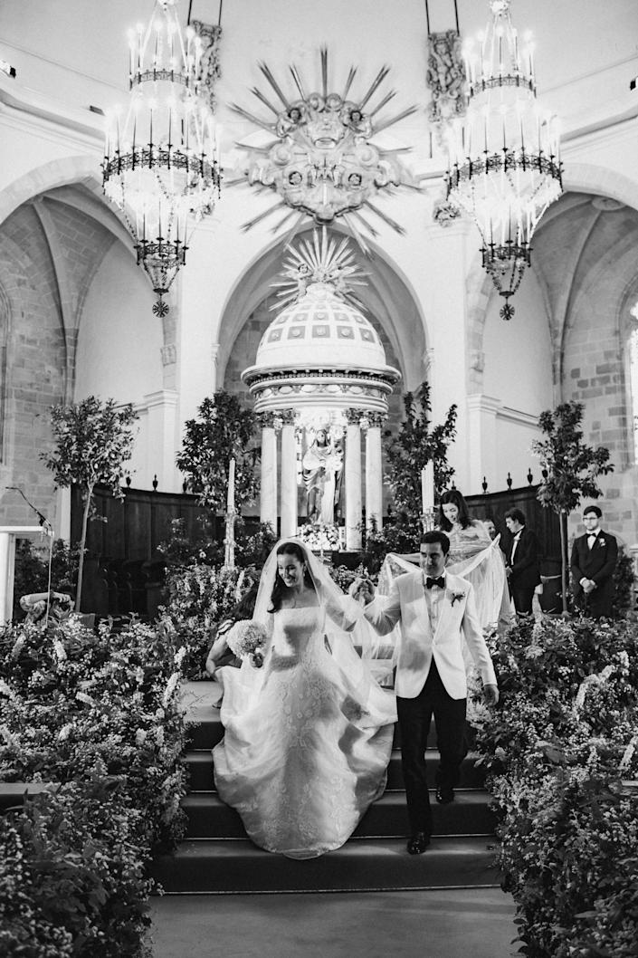 My absolute favorite photo. Everything about this was just gorgeous! I really loved our ceremony. We had just signed our marriage certificate and were walking down the aisle as husband and wife.