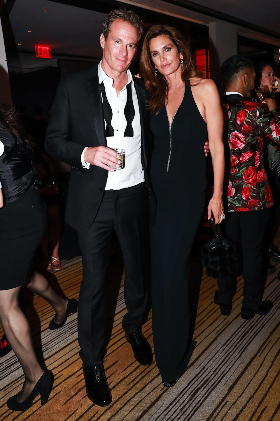 <p>Cindy Crawford and Rande Gerber coupled up at The Boom Boom Room. (Photo: Shutterstock) </p>
