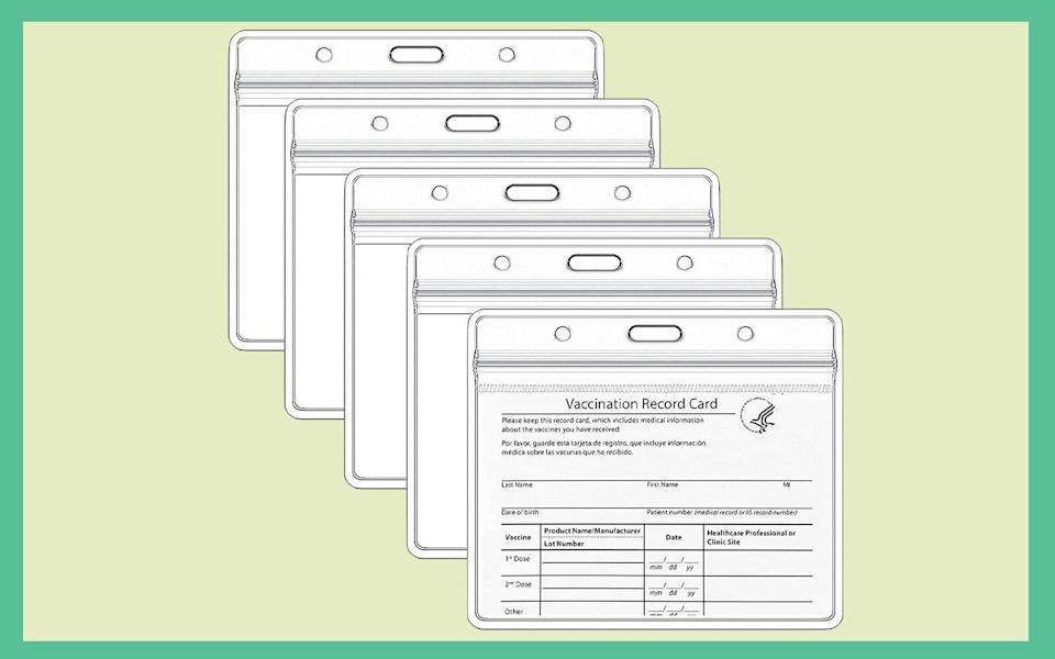 Teskyer 5 Pack CDC Vaccination Card Protector