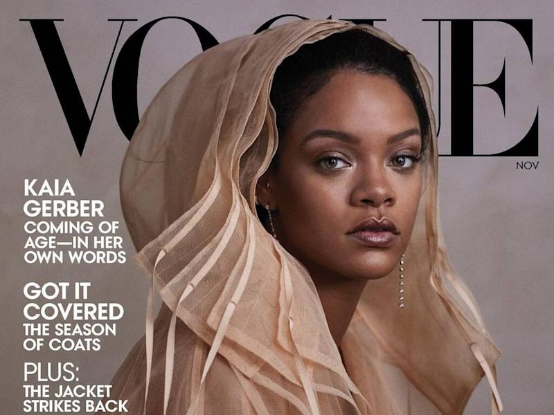 Rihanna 'proud' to model Fenty designs on cover of U.S. Vogue