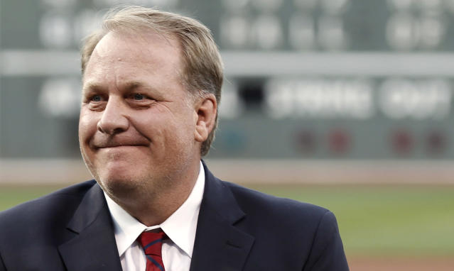 Curt Schilling is getting a lot of support for the baseball Hall of Fame. (AP Photo/Winslow Townson)