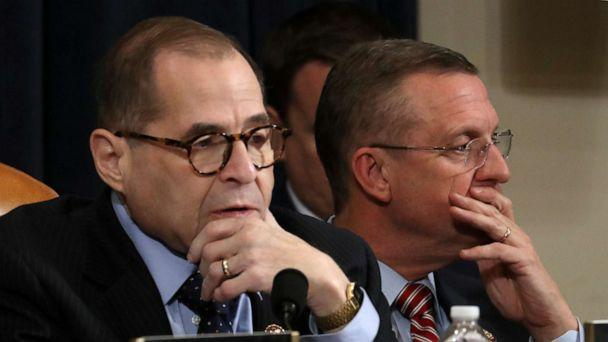 PHOTO: U.S. House Judiciary Committee Chairman Jerrold Nadler, D-N.Y., and ranking member Doug Collins, R-Ga., listen to opening statements during a hearing on articles of impeachment against President Donald Trump on Capitol Hill, Dec. 11, 2019. (Chip Somodevilla/Getty Images)