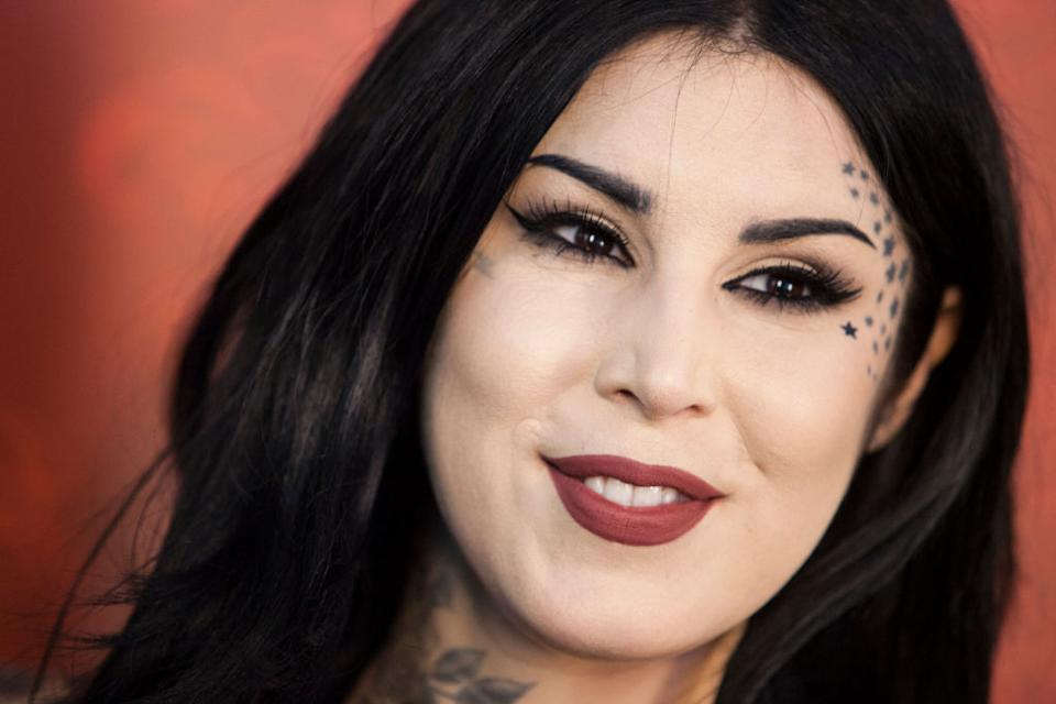 Kat Von D is thanking Paris Hilton. (Photo: Rosdiana Ciaravolo/Getty Images)