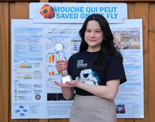 Allison Engo is a 16-year-old student at Marianopolis College in Montreal. In May 2021, she won the Platinum Senior Discovery Award at the Canada-Wide Science Fair. (Submitted by Allison Engo - image credit)