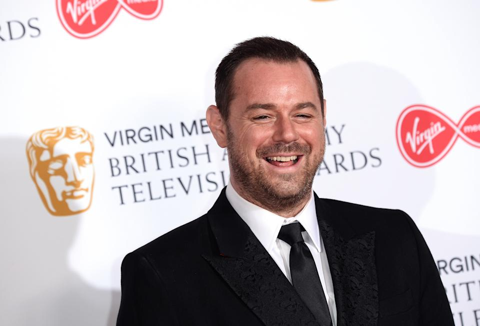 LONDON, ENGLAND - MAY 12:  Danny Dyer the Press Room at the Virgin TV BAFTA Television Award at The Royal Festival Hall on May 12, 2019 in London, England. (Photo by Jeff Spicer/Getty Images)
