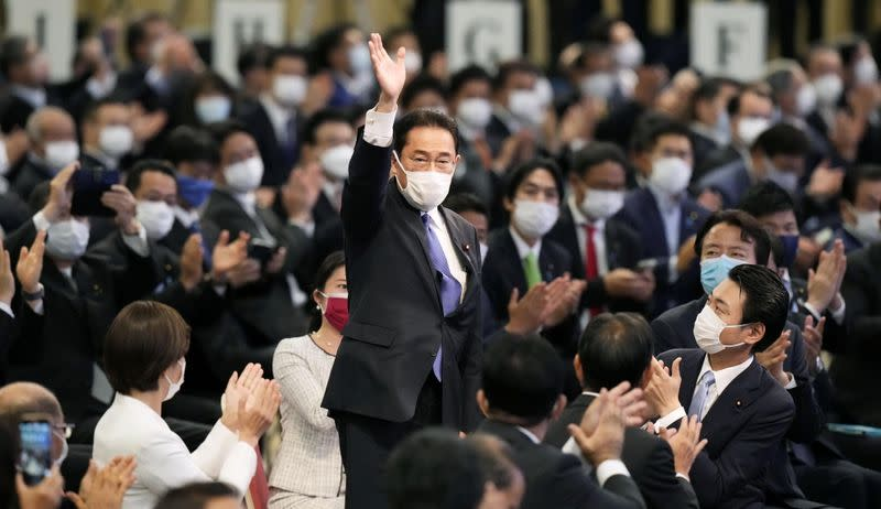 Former Japanese FM Kishida is elected as new head of Liberal Democratic Party, in Tokyo