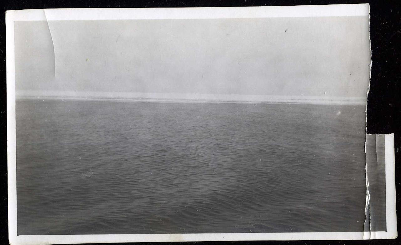 """<span style=""""font-family:Arial;"""">An original </span><span style=""""font-family:Arial;"""">3"""" x 5 1/2"""" photo, taken from the deck of the Carpathia, shows the icy ocean.</span><br> <br> (Photo courtesy of <a target=""""_blank"""" href=""""http://www.weissauctions.com/"""">Phillip Weiss Auctions</a>)"""