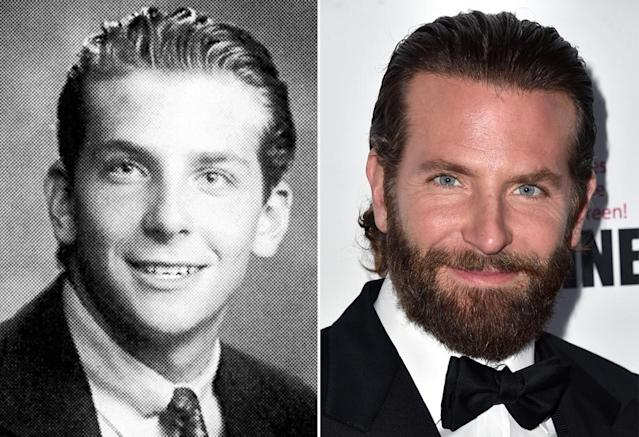 <p>Even in his 1993 senior yearbook photo from Germantown Academy in Fort Washington, Pa., Bradley Cooper — aka the voice of Rocket — had perfected his slicked-back hairstyle. (Photo: Seth Poppel/Yearbook Library/Getty Images) </p>