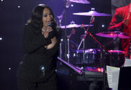 FILE - Faith Evans performs on stage at the Pre-Grammy Gala And Salute To Industry Icons on Jan. 25, 2020, in Beverly Hills, Calif. Evans turns 48 on June 10. (Photo by Willy Sanjuan/Invision/AP, File)