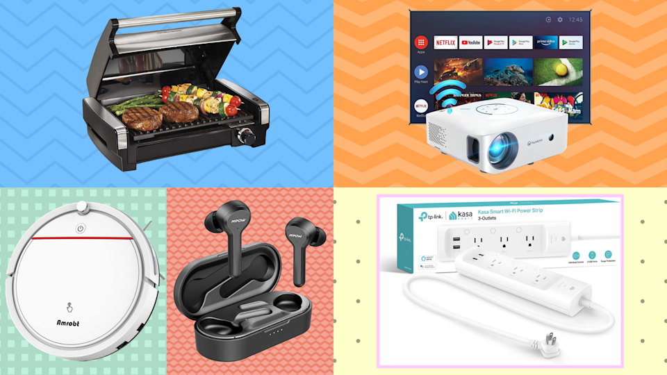 Pick a box, any box, and score up to 70 percent off top-rated robovacs, wireless earbuds, digital projectors and more. (Photo: Amazon)