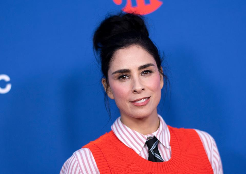 "US comedian Sarah Silverman attends For Your Consideration Red Carpet Event for The Showtime Series ""Who is America"" on May 15, 2019 in Los Angeles, California. (Credit: VALERIE MACON/AFP/Getty Images)"