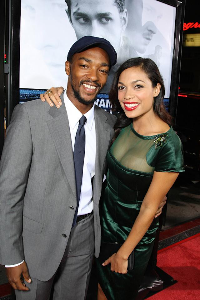 "<a href=""http://movies.yahoo.com/movie/contributor/1808440551"">Anthony Mackie</a> and <a href=""http://movies.yahoo.com/movie/contributor/1800023039"">Rosario Dawson</a> at the Los Angeles premiere of <a href=""http://movies.yahoo.com/movie/1809955918/info"">Eagle Eye</a> - 09/16/2008"