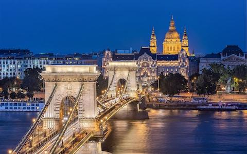 Budapest by night - Credit: Getty