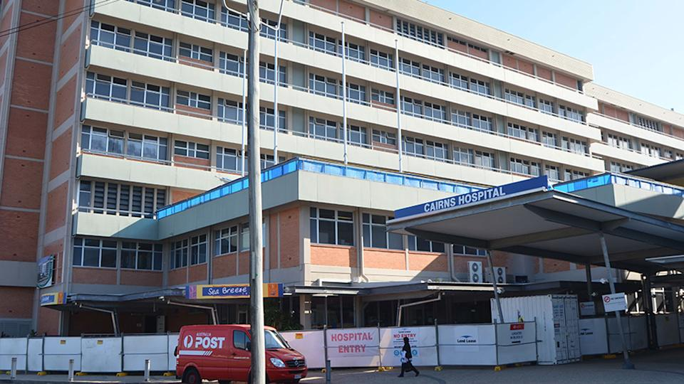 Cairns Hospital is pictured.