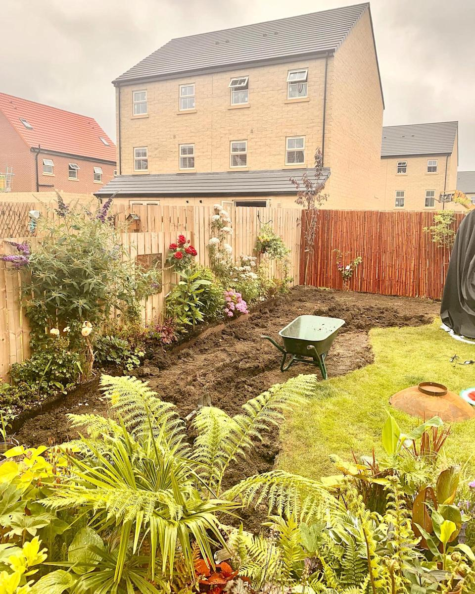 The garden mid transformation. (Caters)