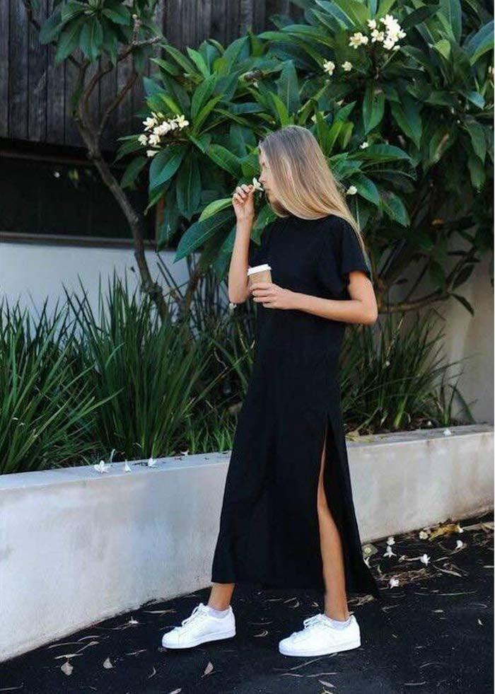 <p>There are so many ways to style this <span>Germinate Maxi T-Shirt Dress</span> ($15 - $16), whether you opt for sneakers and denim jacket, or just slide sandals. </p>