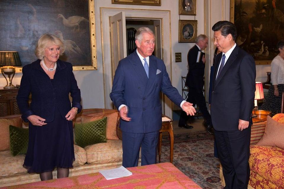 Camilla and Charles host Chinese President Xi Jinping during his 2015 state visit (Eddie Mulholland/Daily Telegraph/PA) (PA Archive)