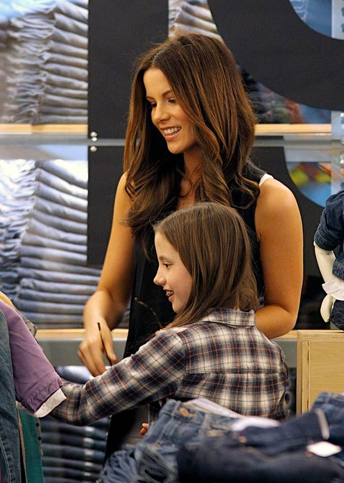 """Kate Beckinsale and her 11-year-old daughter Lily have a good time shopping for new duds. Think they actually had to pay for the stuff they picked out? <a href=""""http://www.infdaily.com"""" target=""""new"""">INFDaily.com</a> - February 24, 2010"""