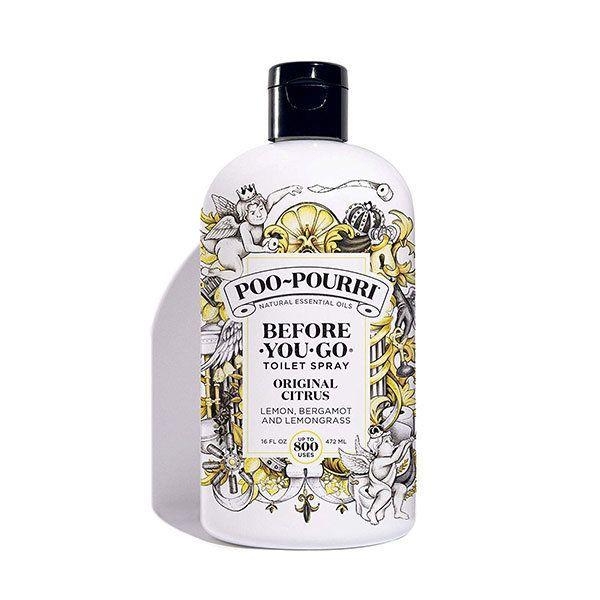 Poo-Pourri Before-You-Go Toilet Spray 16 oz Refill Bottle, Original Citrus Scent. (Photo: Amazon)