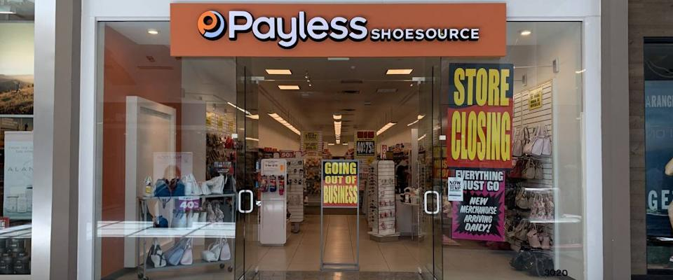 A Payless store closing