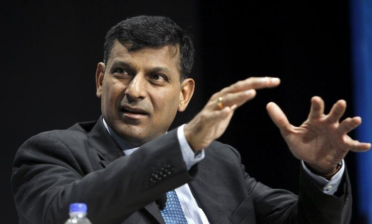 """Reserve Bank of India's Governor Raghuram Rajan attends the """"Financial Inclusion: Can It Meet Multiple Macroeconomic Goals?"""" event during the 2015 IMF/World Bank Annual Meetings in Lima,"""