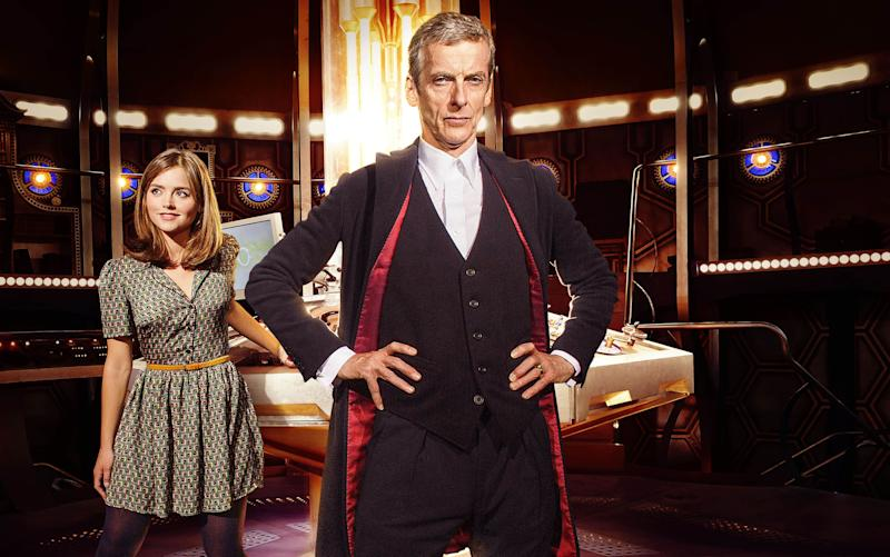 The Doctor, played by Peter Capaldi, and Clara, played by Jenna Coleman - Credit: BBC