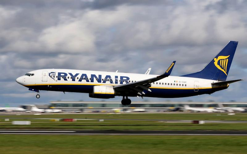 A Ryanair flight was cancelled at 2.37am while passengers were waiting on the runway - AFP