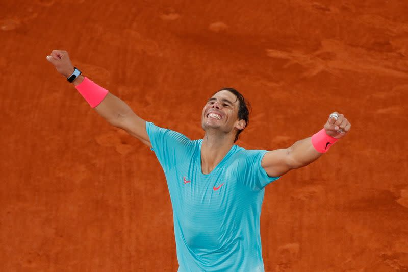 Nadal wins 13th French Open to claim record-equalling 20th Grand Slam title