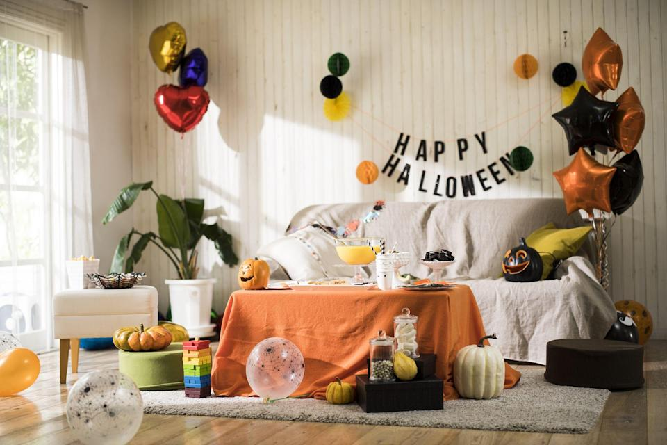 """<p>It's official: The Centers for Disease Control and Prevention have<a href=""""https://www.delish.com/food-news/a34111106/cdc-halloween-trick-or-treat-recommendations/"""" rel=""""nofollow noopener"""" target=""""_blank"""" data-ylk=""""slk:announced safety guidelines for Halloween this year"""" class=""""link rapid-noclick-resp""""> announced safety guidelines for Halloween this year</a>, which include avoiding trick-or-treating and large gatherings. But that doesn't mean <a href=""""https://www.delish.com/food-news/a33865972/is-halloween-canceled/"""" rel=""""nofollow noopener"""" target=""""_blank"""" data-ylk=""""slk:Halloween is cancelled"""" class=""""link rapid-noclick-resp"""">Halloween is cancelled</a>! Far from it. There are still a bunch of ways to make October 31 feel special and just as festive as years before. So don't fret: <a href=""""https://www.delish.com/holiday-recipes/halloween/g3038/best-food-halloween-costumes/"""" rel=""""nofollow noopener"""" target=""""_blank"""" data-ylk=""""slk:Get a costume"""" class=""""link rapid-noclick-resp"""">Get a costume</a> ready (because why the heck not!), and make it the happiest Halloween possible. </p>"""