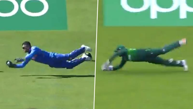 MS Dhoni vs Sarfaraz Ahmed: Fans Debate Which Catch Was the Better One in CWC 2019