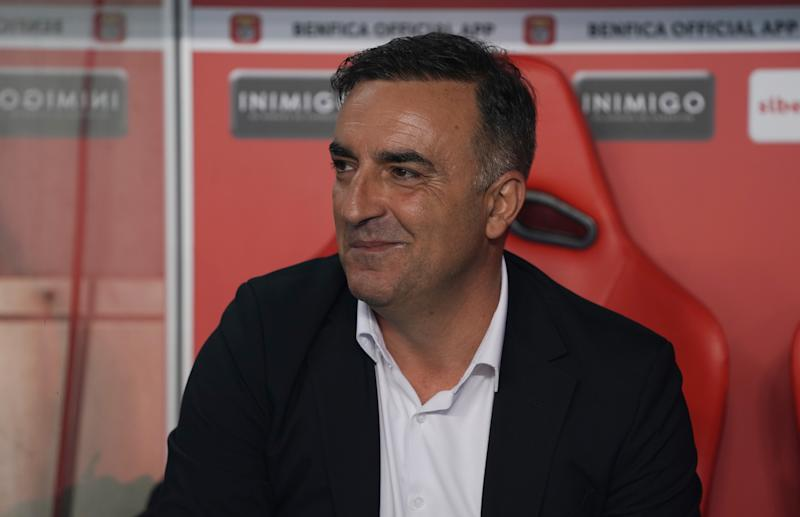 LISBON, PORTUGAL - NOVEMBER 2: Carlos Carvalhal of Rio Ave FC before the start of the Liga NOS match between SL Benfica and Rio Ave FC at Estadio da Luz on November 2, 2019 in Lisbon, Portugal. (Photo by Gualter Fatia/Getty Images)