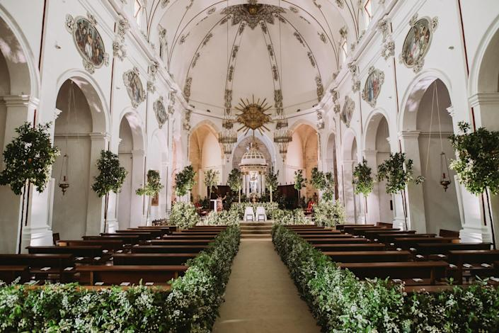 The beautiful church decorated by Toni Riera. I remember being in compete awe when I walked in.