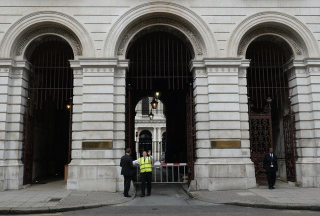 Entrance archways to the Foreign & Commonwealth Office (Stefan Rousseau/PA)