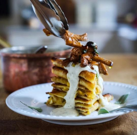 """<p>""""What appeals to me most about this dish is its wonderful texture, not only from crisping up the crepes, but from the spaghetti squash itself, folded inside the crepes. It's a different way to prepare spaghetti squash, and really highlights its flavor and incredible texture."""" - Sylvia of <a href=""""http://www.feastingathome.com/crispy-spaghetti-squash-crepes-with-mushrooms-and-sage/"""">Feasting At Home</a></p><p><a href=""""http://www.feastingathome.com/crispy-spaghetti-squash-crepes-with-mushrooms-and-sage/"""">Get the recipe.</a></p>"""
