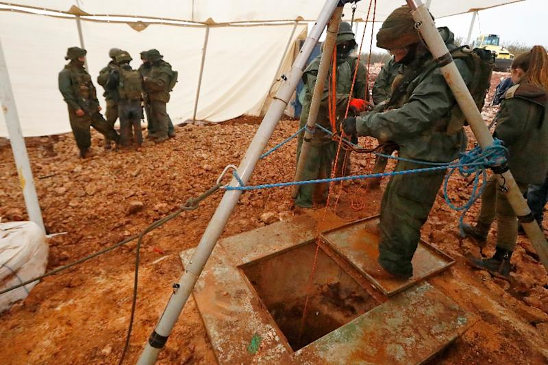 Israel says it has discovered six Hezbollah tunnels under the border with Lebanon