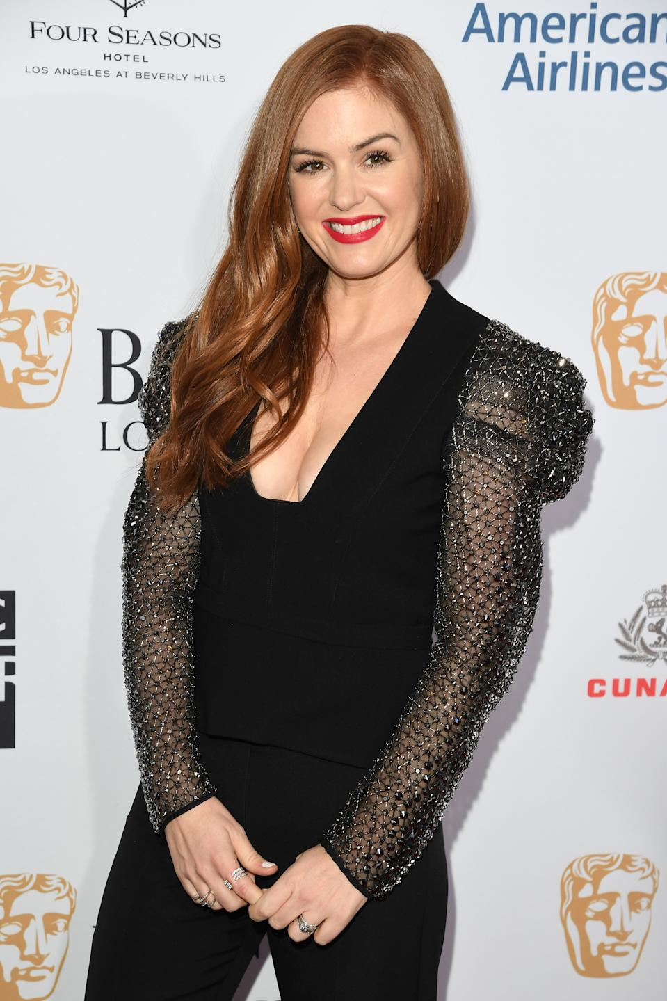 LOS ANGELES, CALIFORNIA - JANUARY 04: Isla Fisher attend The BAFTA Los Angeles Tea Party at Four Seasons Hotel Los Angeles at Beverly Hills on January 04, 2020 in Los Angeles, California. (Photo by Daniele Venturelli/Getty Images)